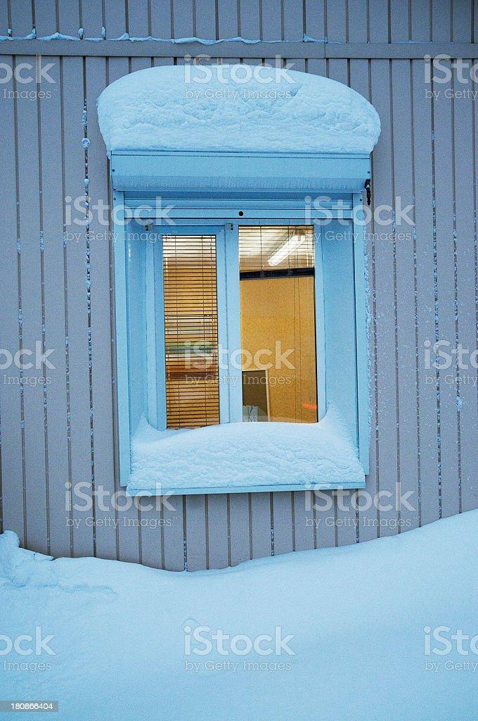Winter.Window. stock photo