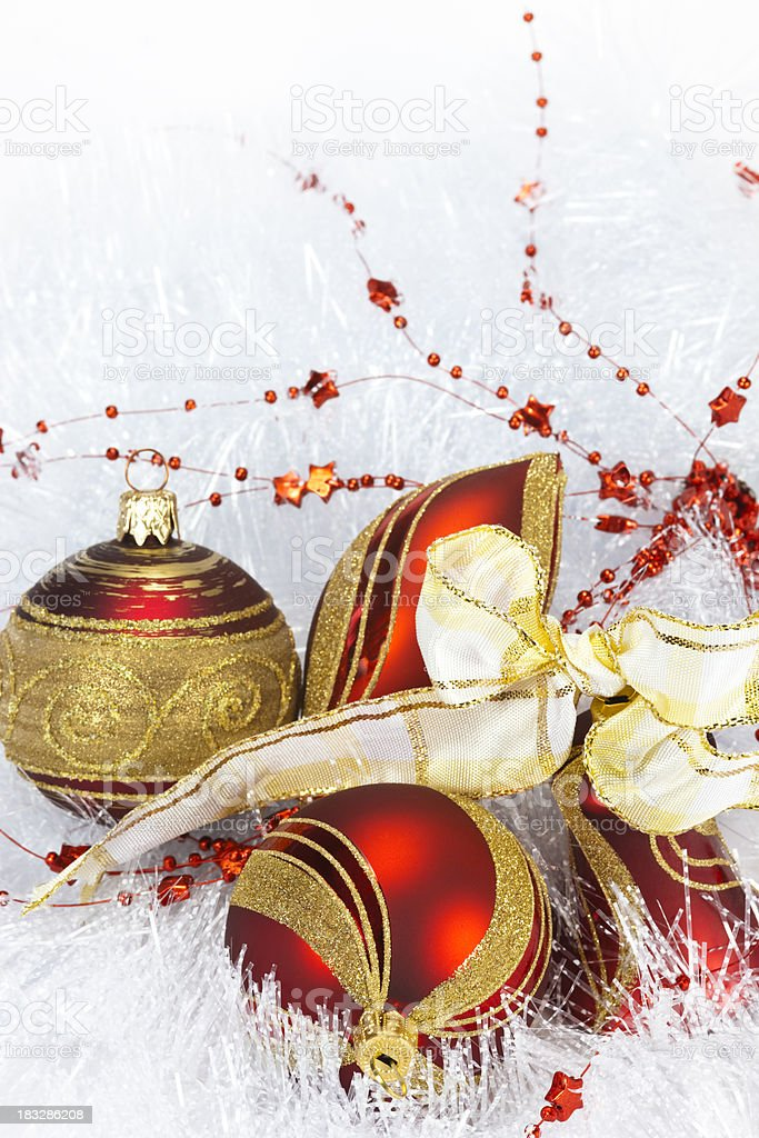 Wintery Christmas Decorations royalty-free stock photo
