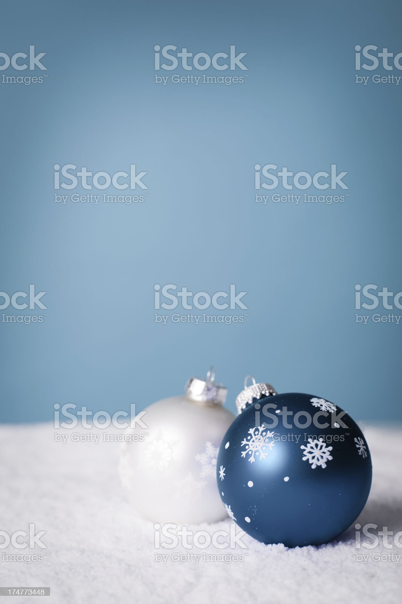 Wintery Decorations for Christmas, With Copy Space royalty-free stock photo