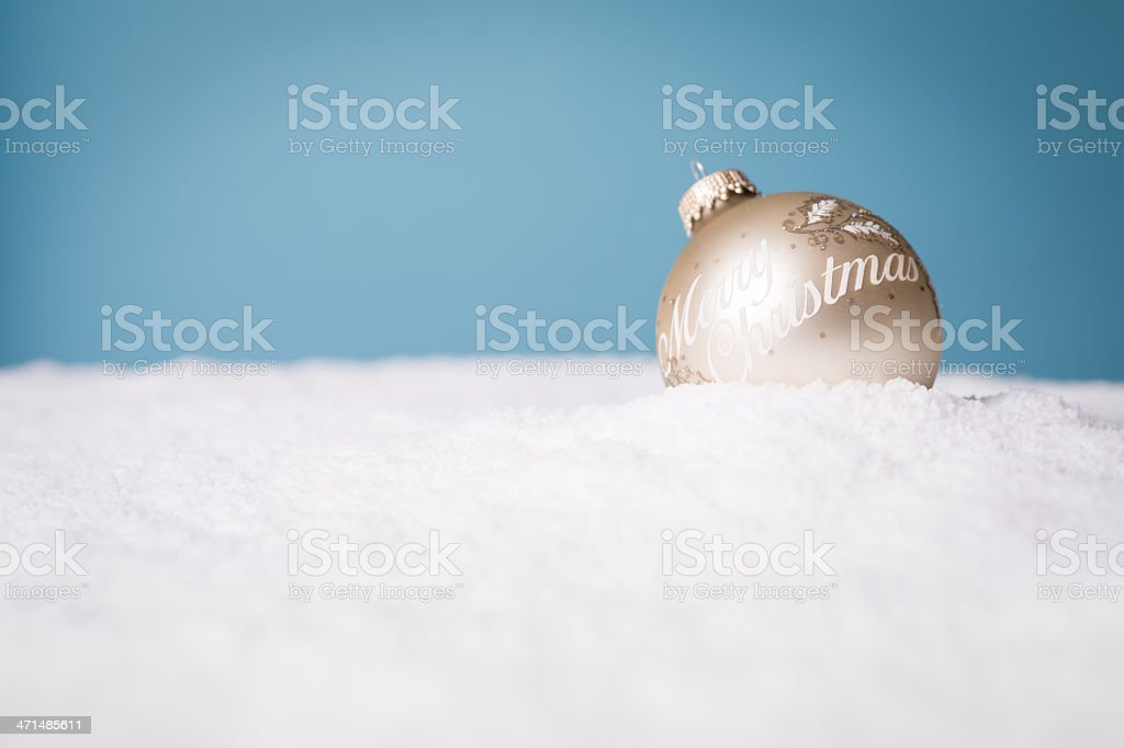 Wintery Decorations for Christmas, With Copy Space stock photo