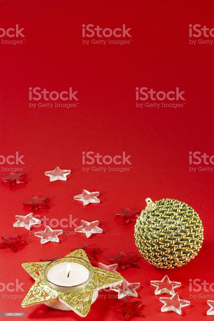 Wintery decorations royalty-free stock photo