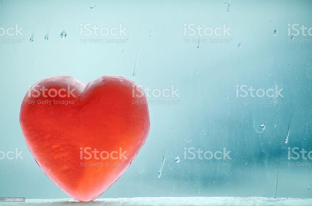 Wintery Heart stock photo