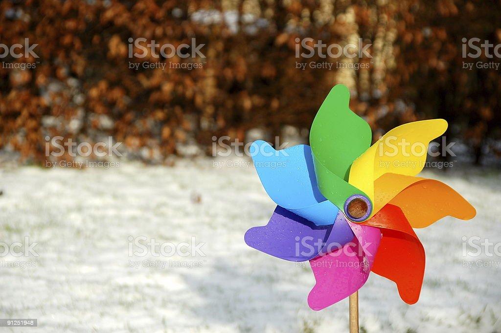 Wintry pinwheel (wet) royalty-free stock photo