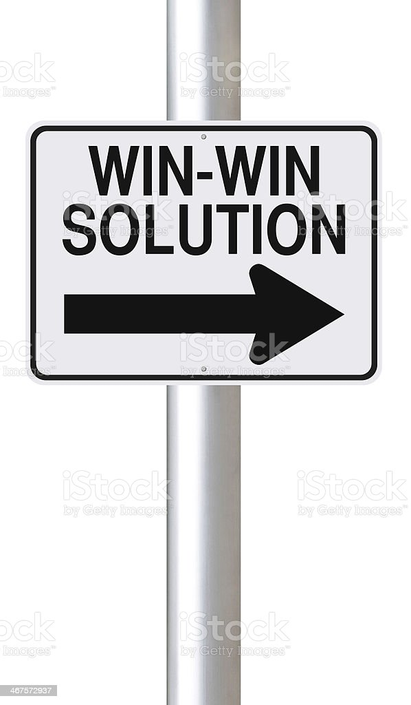 Win-Win Solution royalty-free stock photo