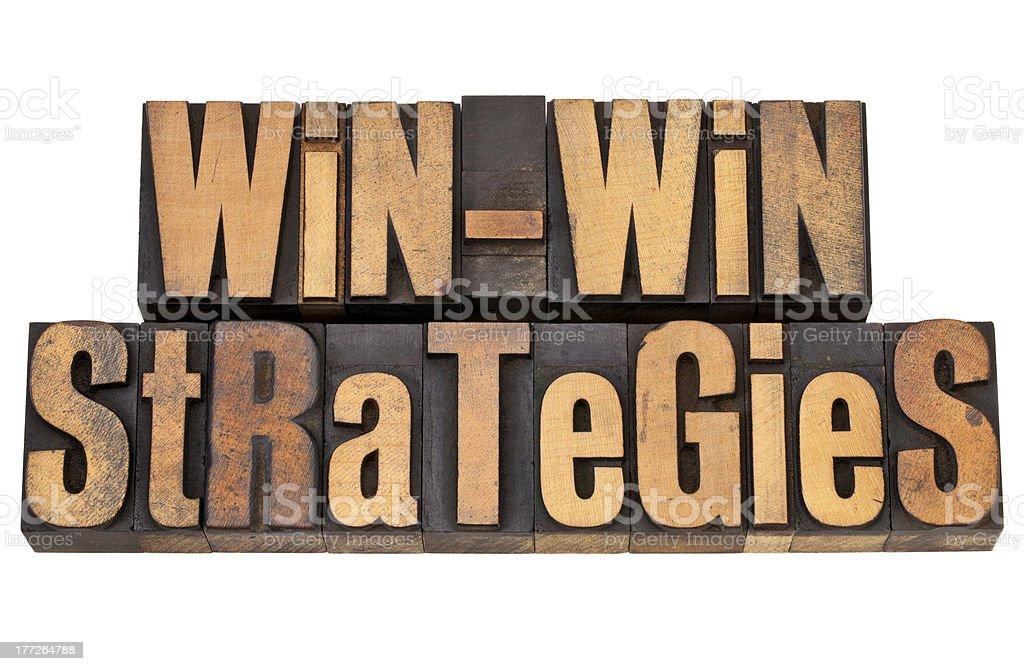 win-win strategies royalty-free stock photo