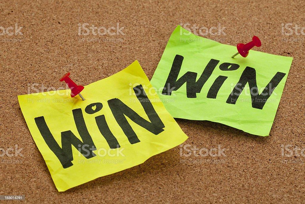 win-win strategy concept stock photo