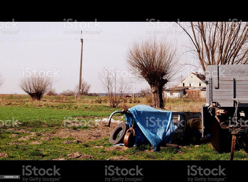 Wioska stock photo