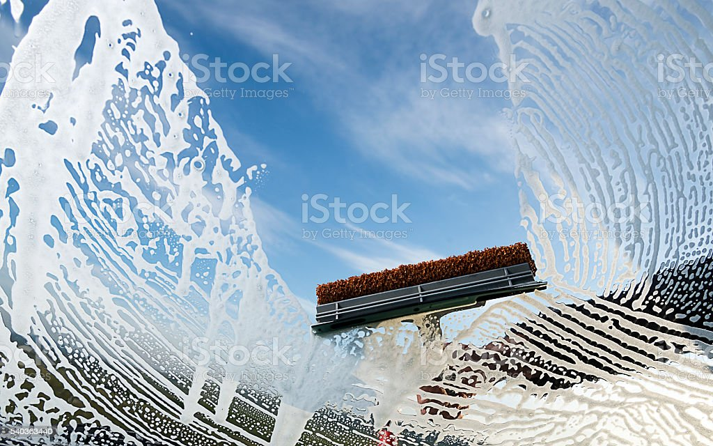 Wipe and Clean Window stock photo