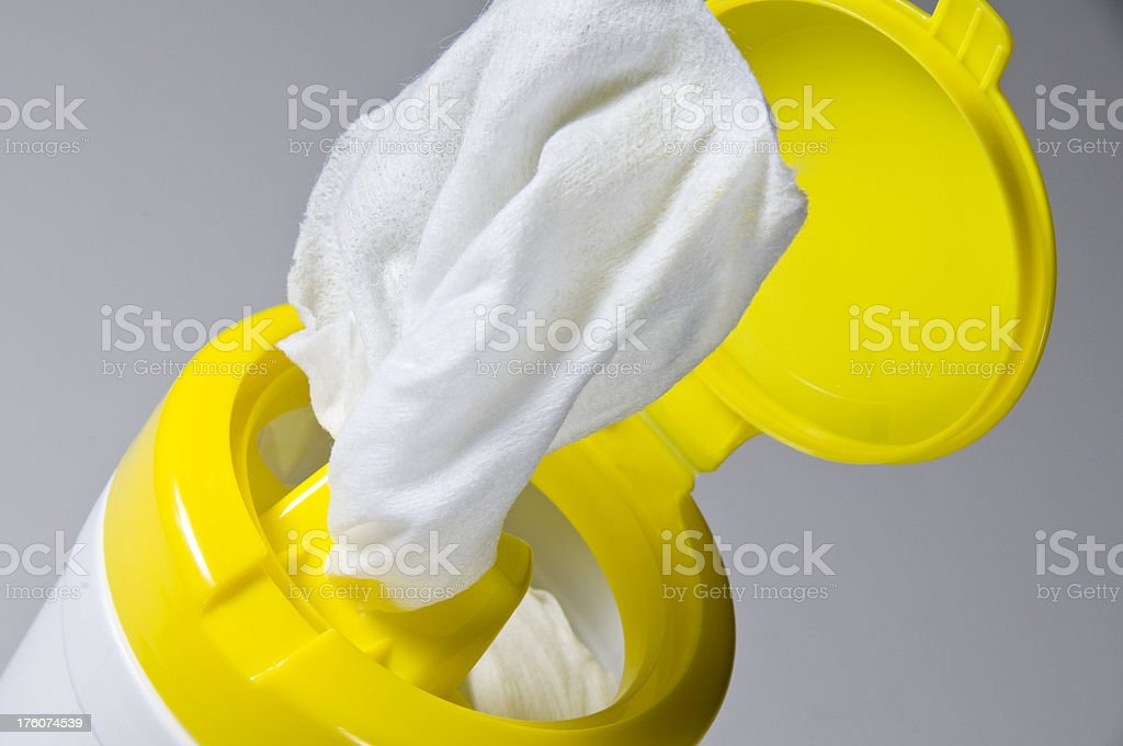 Wipes Canister stock photo