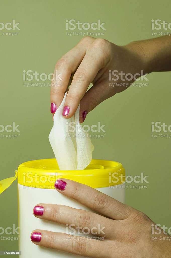 Wipes stock photo