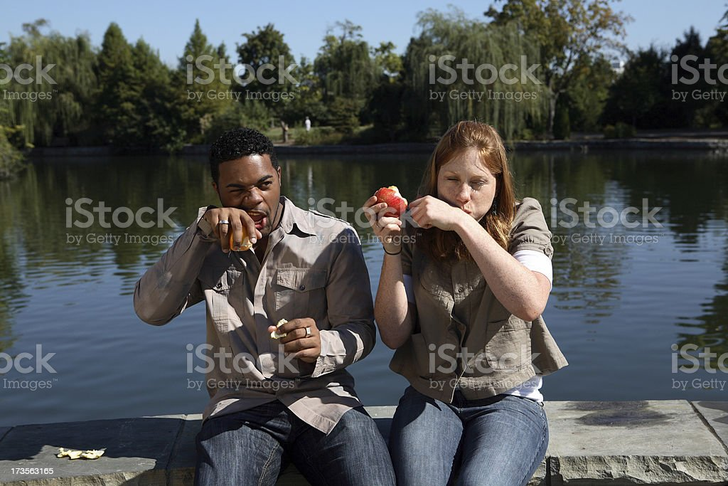 Wiping mouth. royalty-free stock photo