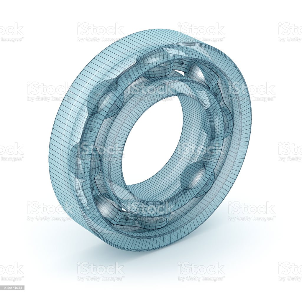 Wire bearing design, isolated on white stock photo