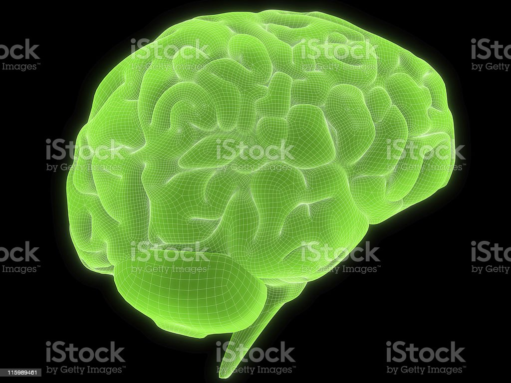 wire brain royalty-free stock photo