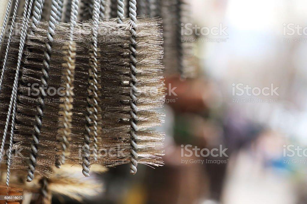 Wire brush stock photo