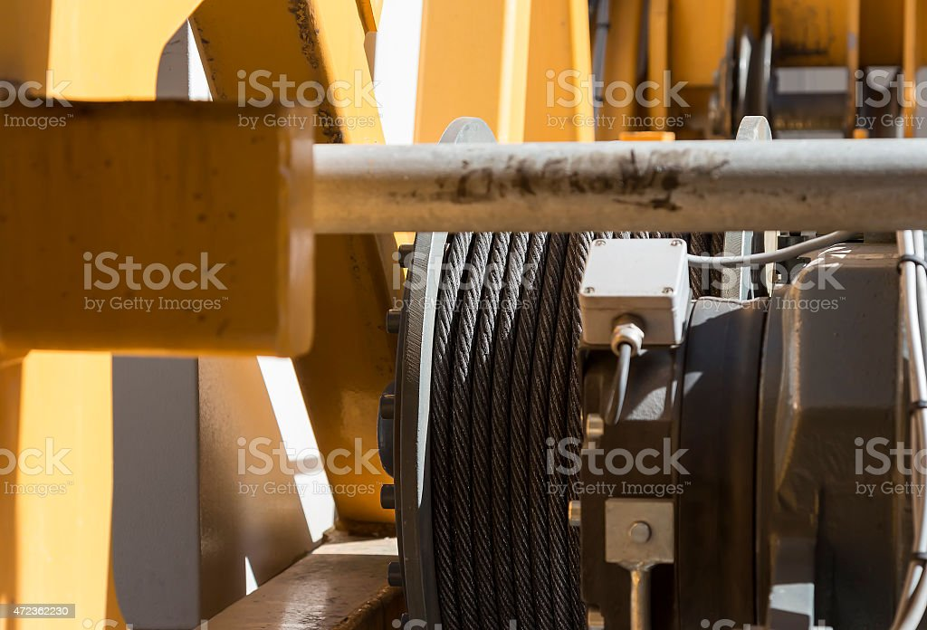 Wire cable for lifting royalty-free stock photo