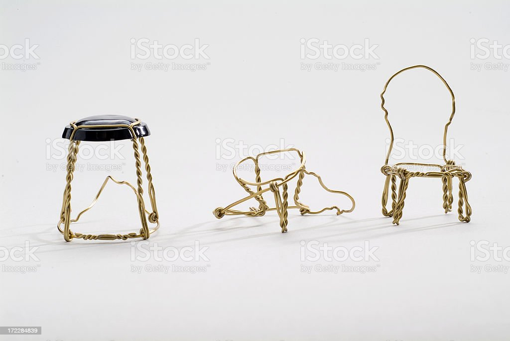 Wire Chair Series royalty-free stock photo
