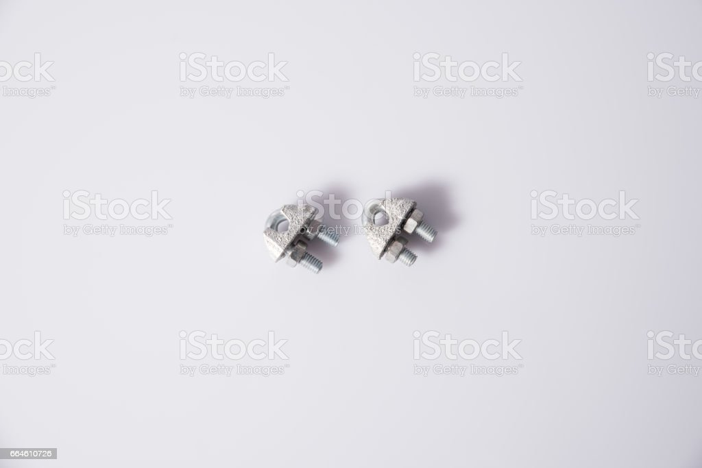 Wire clamp stock photo