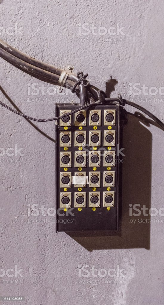 Wire Conector. Retro Equipment Theater Stage Image Concept. stock photo