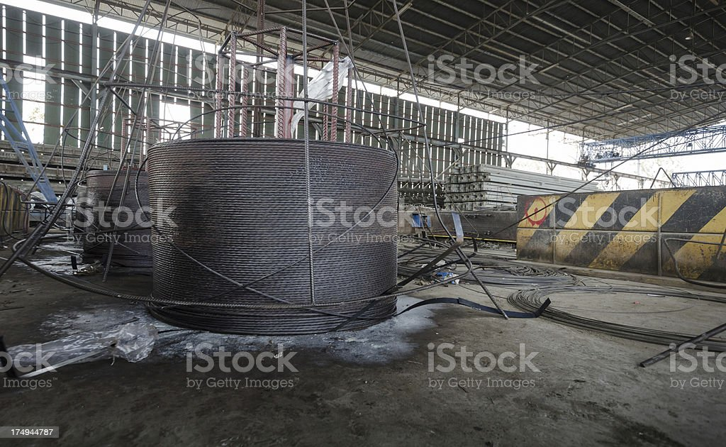 Wire corrosion steel in factory stock photo