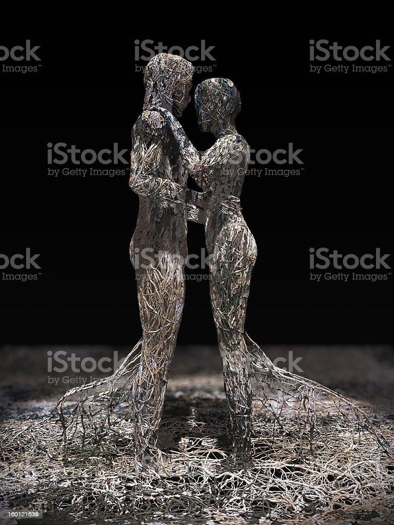 Wire Couple stock photo