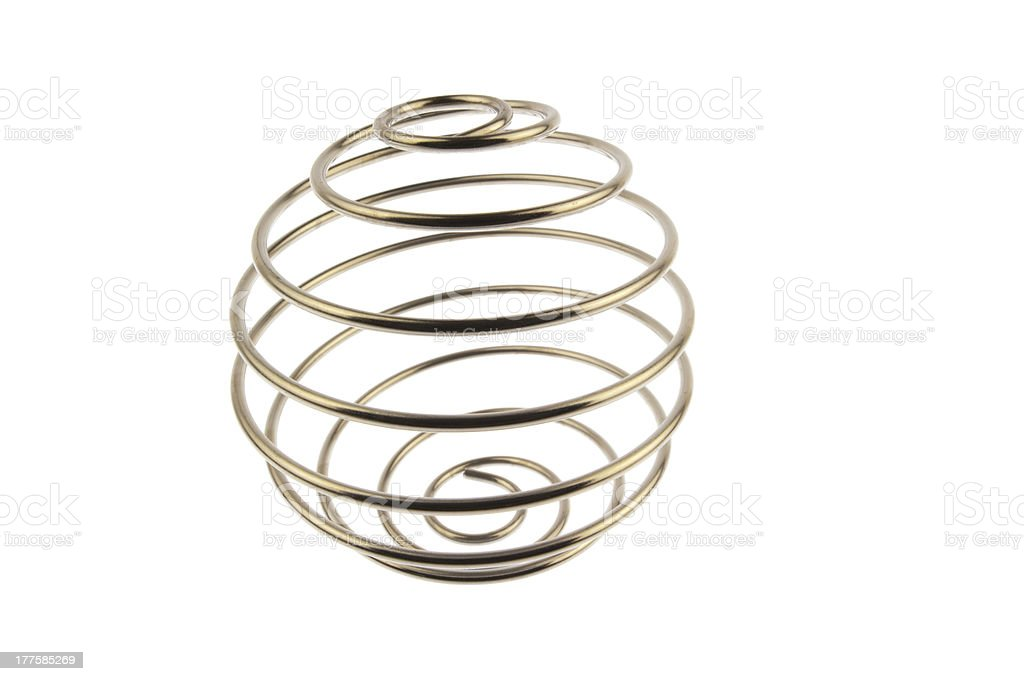 Wire curled isolated in white stock photo