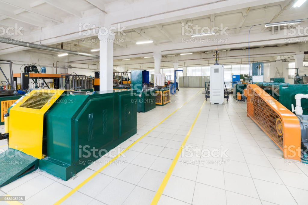 Wire drawing shop stock photo