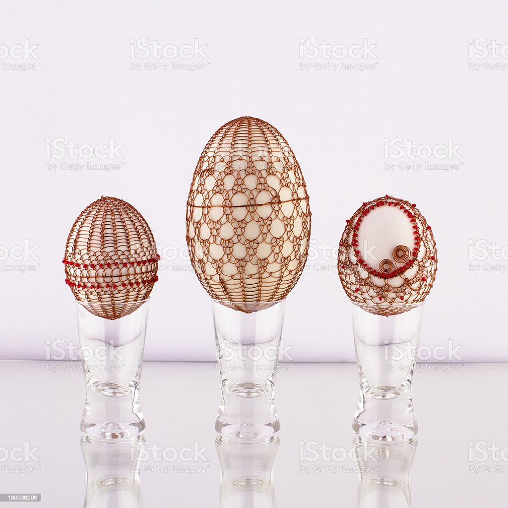 wire egg royalty-free stock photo