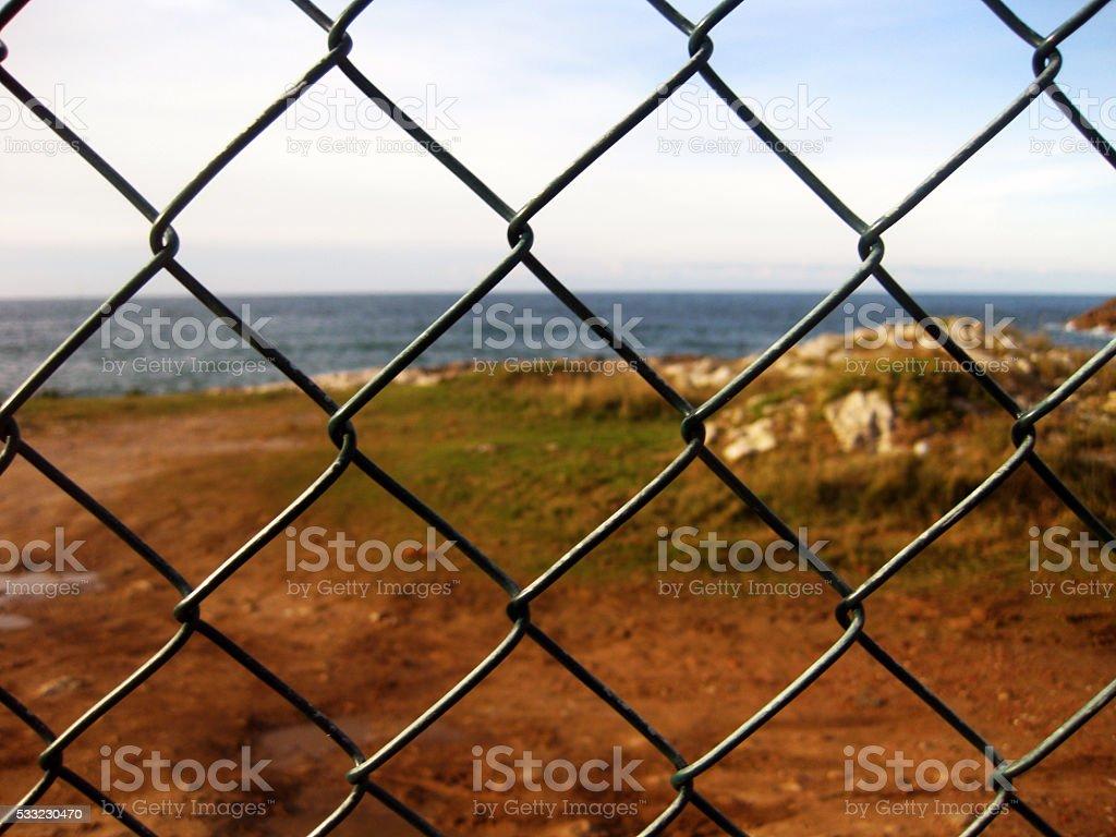 Wire fences. stock photo