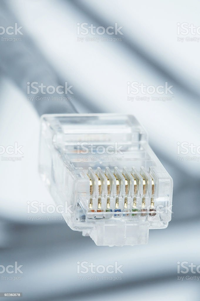 Wire for connection of a computer royalty-free stock photo