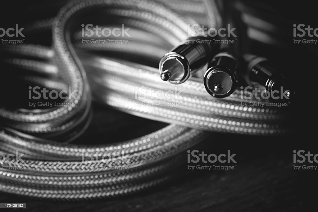 wire for electronics tulip stock photo