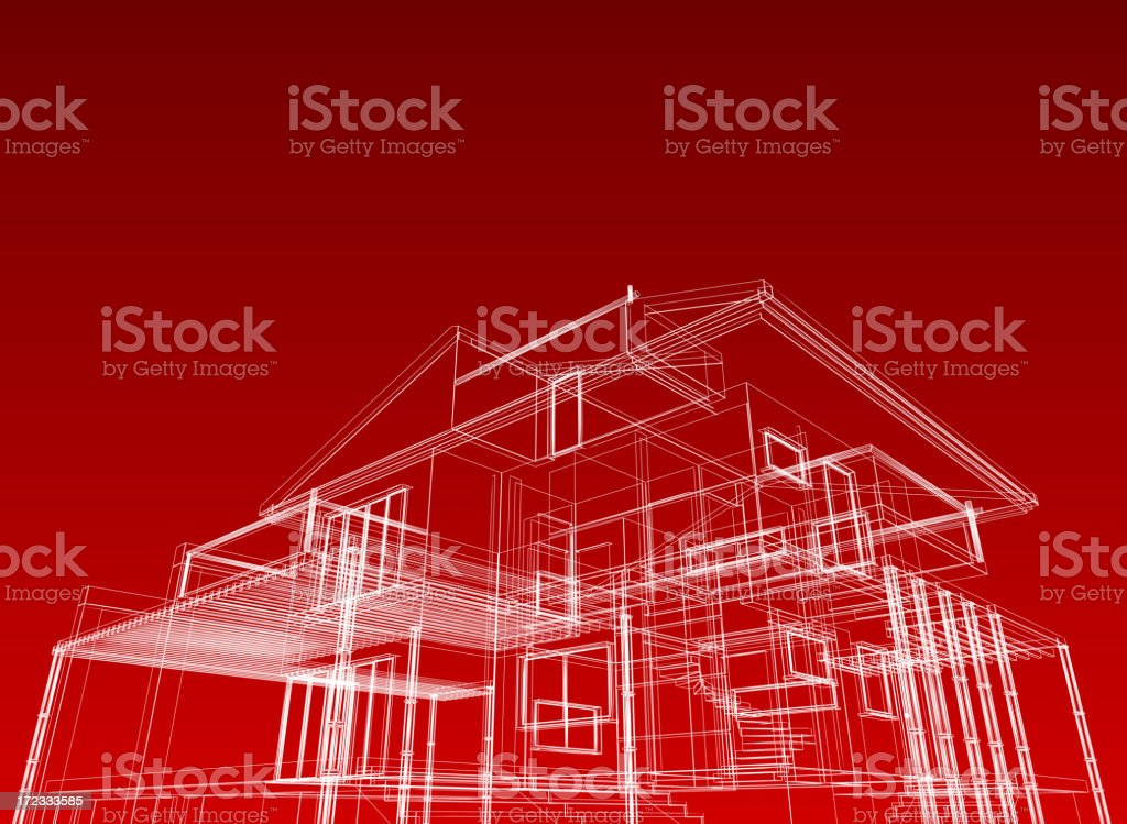 Wire Frame Architectural Background royalty-free stock photo