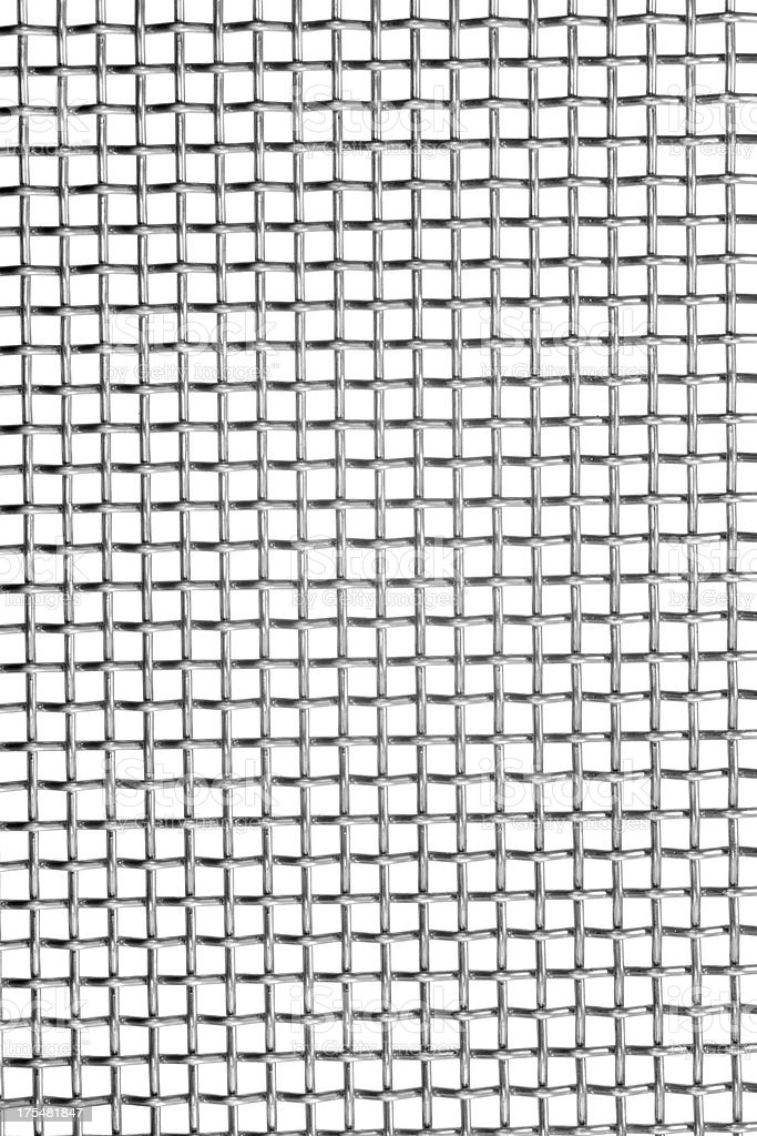 wire grating isolated on white as background stock photo