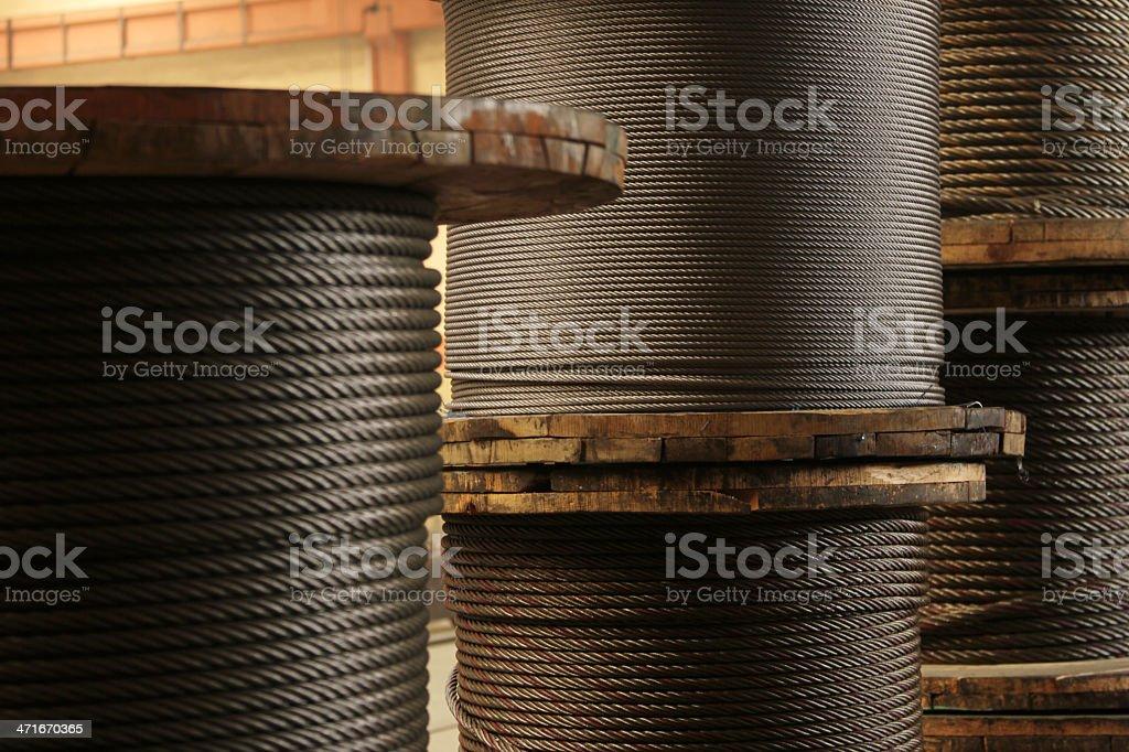 Wire Hawser royalty-free stock photo