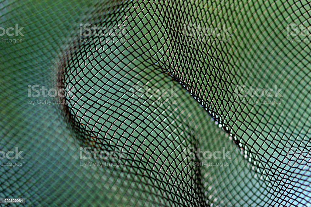 Wire mesh close-up abstract stock photo