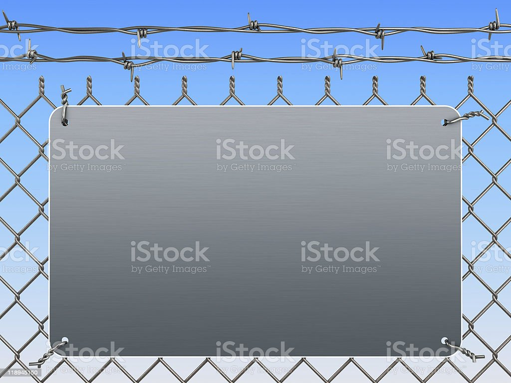 Wire mesh fence royalty-free stock photo