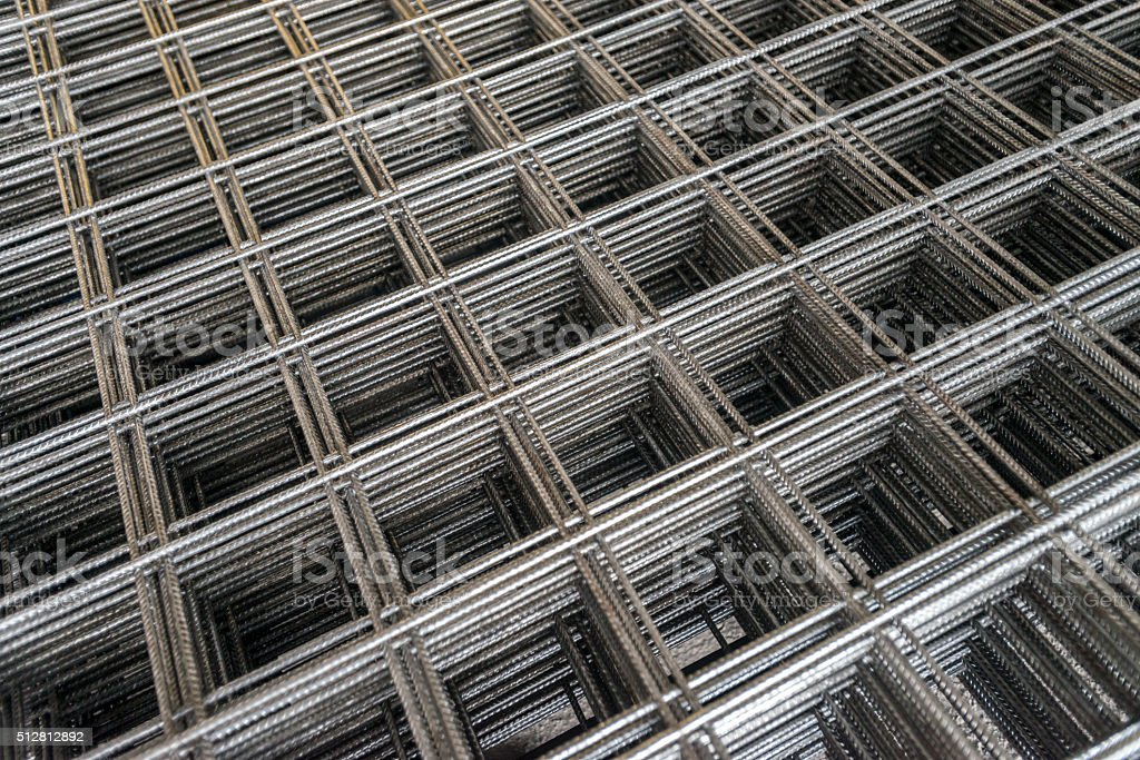 Wire mesh for Construction job. stock photo