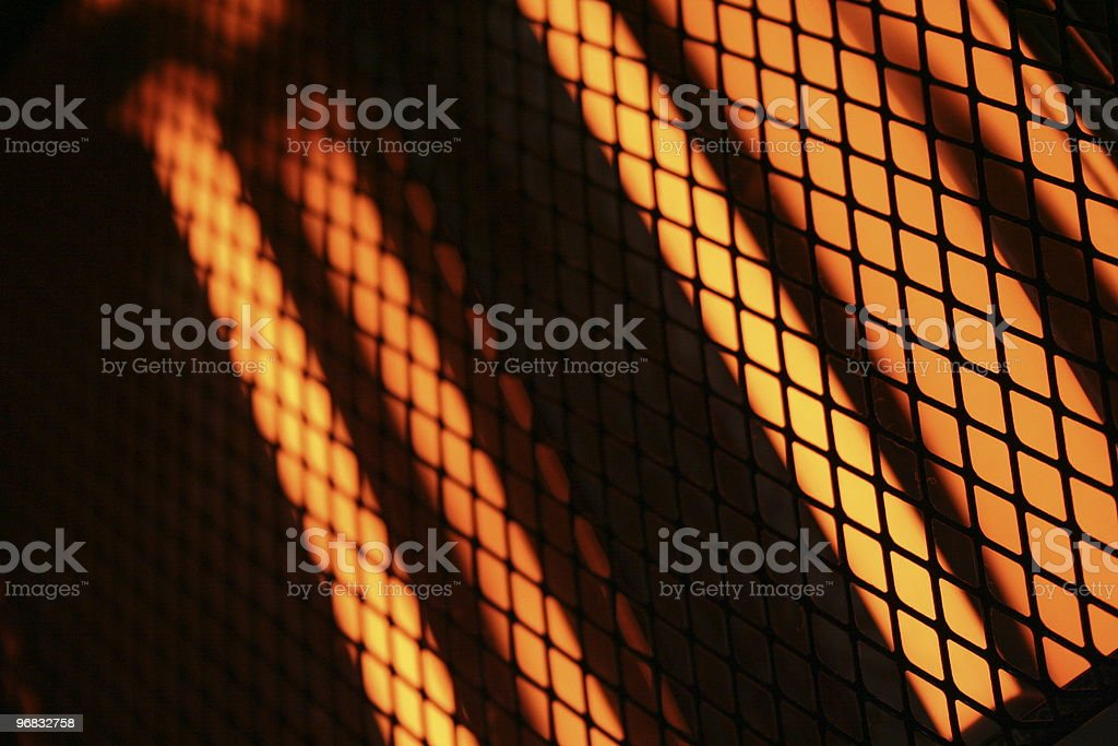Wire mesh of heater royalty-free stock photo