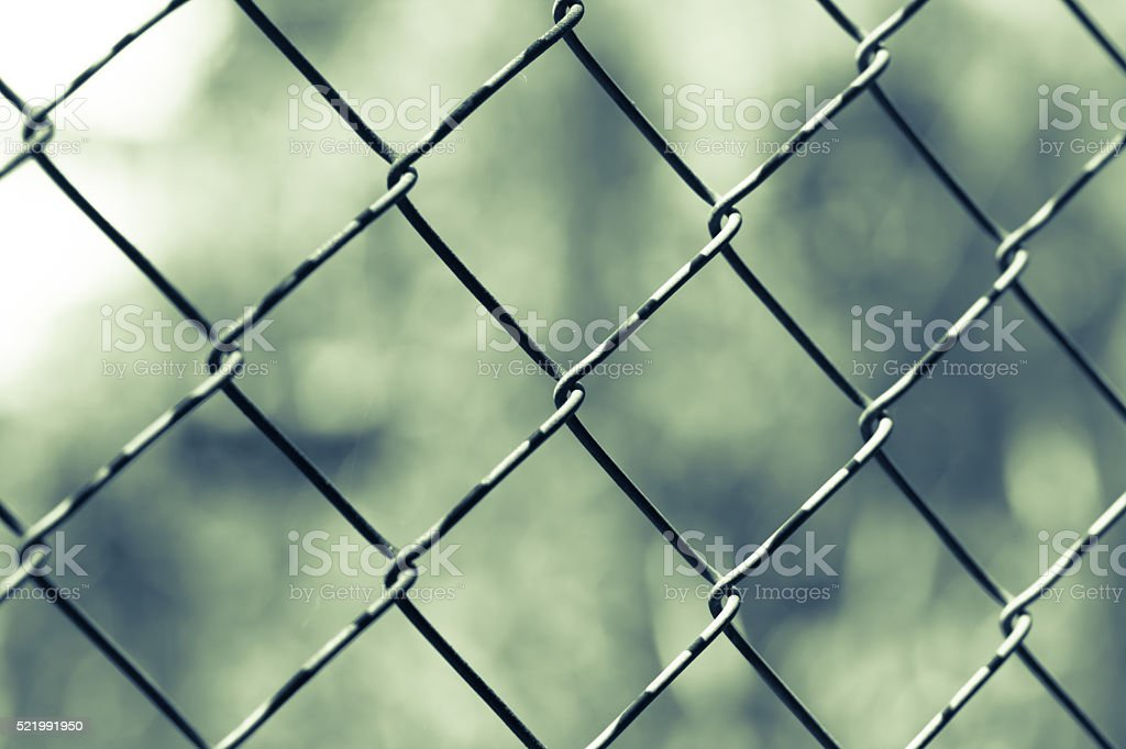 Wire netting - depth of field with vintage tone stock photo