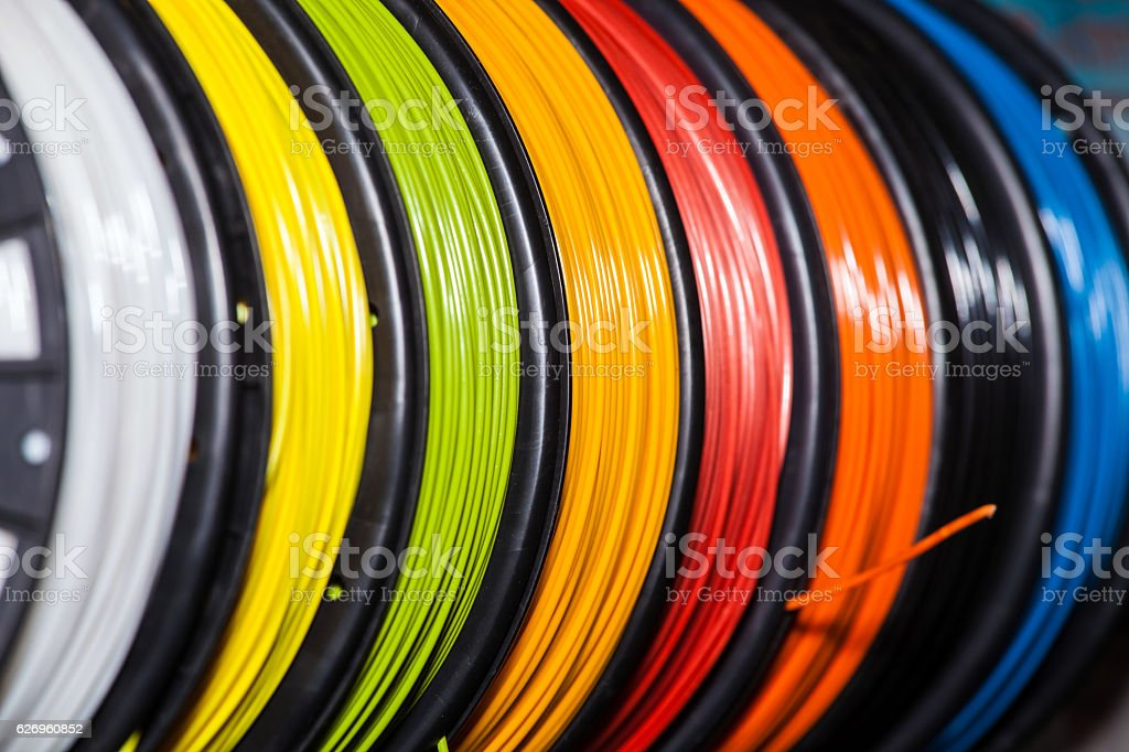 ABS wire plastic for 3d printer stock photo