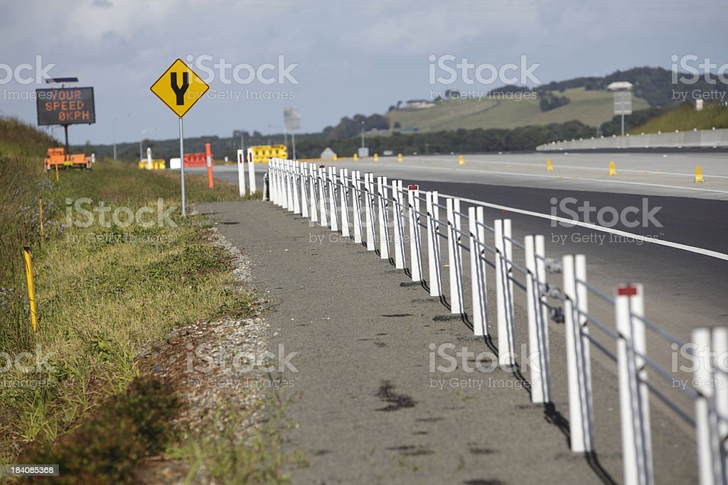 Wire Rope Guard Rail royalty-free stock photo