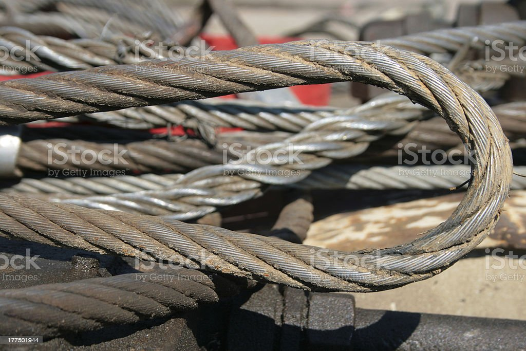 Wire rope royalty-free stock photo