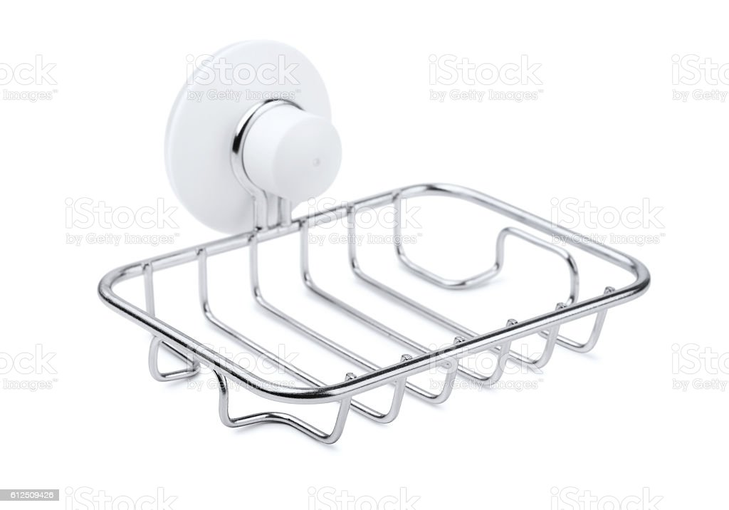 Wire soap holder stock photo