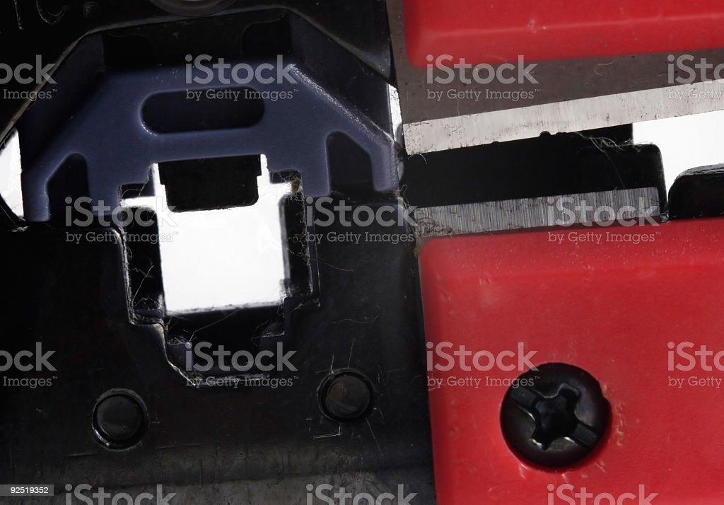 Wire splicer closeup stock photo