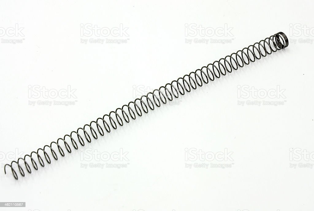 Wire springs stock photo