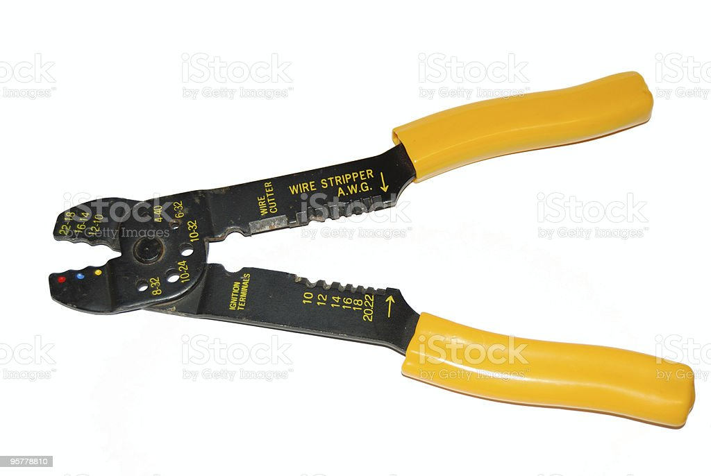 Wire strippers royalty-free stock photo
