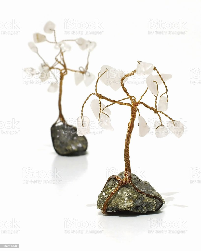 Wire trees royalty-free stock photo
