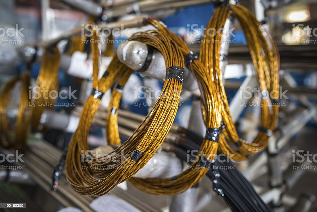 Wire up stock photo