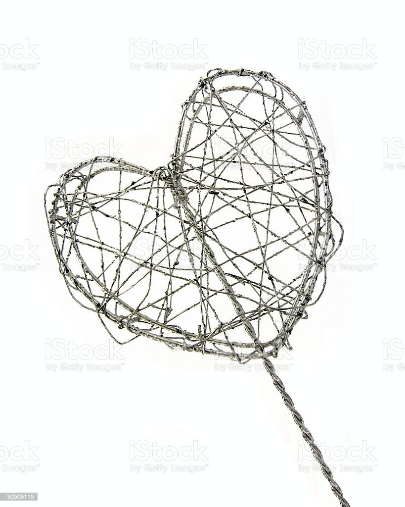Wired Heart stock photo