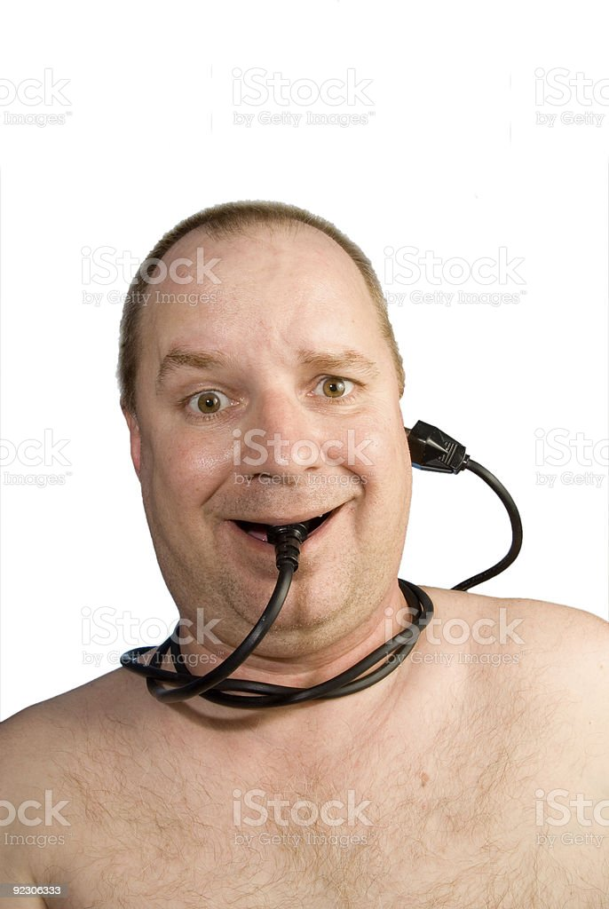 Wired royalty-free stock photo