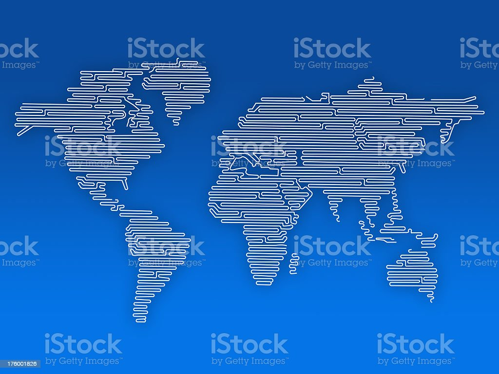 Wired world royalty-free stock photo